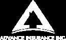 Advance Insurance Logo - White